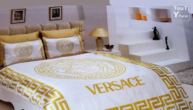parure de lit versace valeur 490. Black Bedroom Furniture Sets. Home Design Ideas