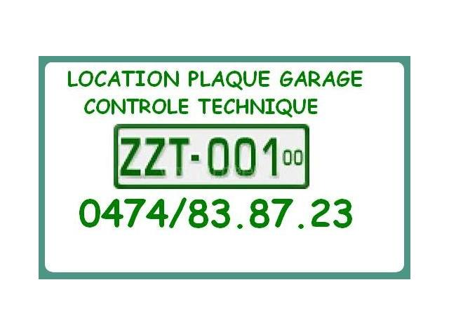 passage au contr le technique avec plaque garage z bruxelles capitale. Black Bedroom Furniture Sets. Home Design Ideas