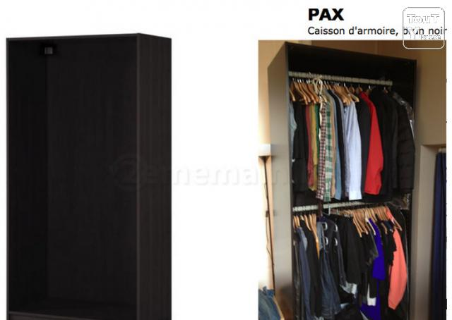 pax ikea garde robe brun noir bruxelles 1000. Black Bedroom Furniture Sets. Home Design Ideas