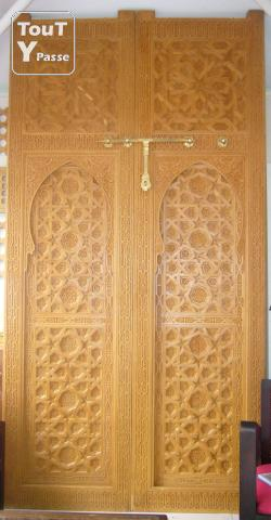 Porte marocain puyricard 13540 for Decoration porte orientale