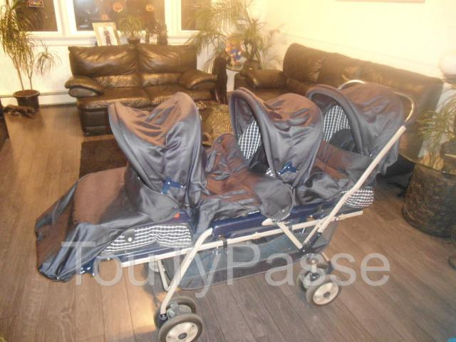 poussette triple peg perego avec accessoires limbrassac 09600. Black Bedroom Furniture Sets. Home Design Ideas