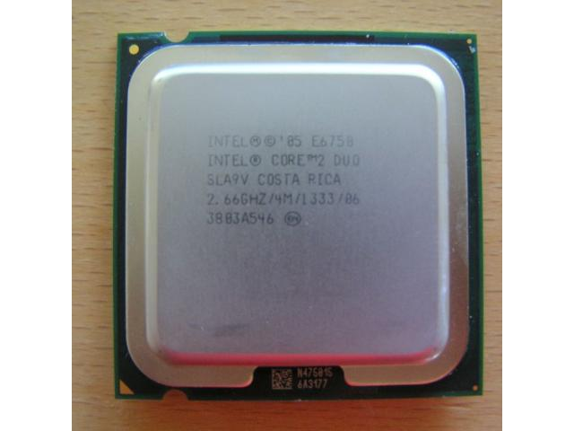photo de Processeur E6750- CPU Intel Core 2 Duo