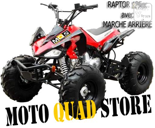 quad enfant ado raptor 125cc avec marche arri re 7 pouces. Black Bedroom Furniture Sets. Home Design Ideas