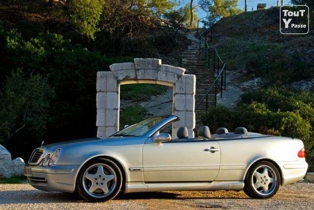 rare cabriolet clk 55 amg 4 places toulon 83000. Black Bedroom Furniture Sets. Home Design Ideas