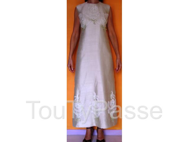photo de Robe de Fêtes en Soie Naturelle T. 38/40 - EXCELLENT ETAT