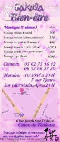 Sakula massage asiatique en cour promotion centre ville midi pyr n es - Salon de massage chinois toulouse ...