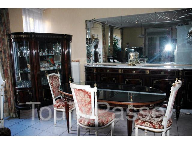 salle a manger style louis xvi acajou vernis aabasene. Black Bedroom Furniture Sets. Home Design Ideas