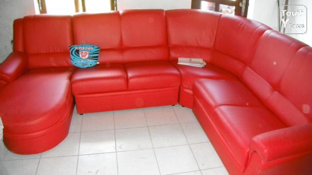 Salon de coin en simili cuir a vendre 400 mons 7000 - Le bon coin salon cuir ...