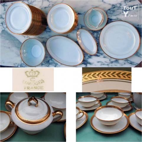 Service complet de 85 pi ces en porcelaine de limoges for Decoration 75017