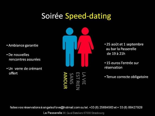 Soiree speed dating ce soir