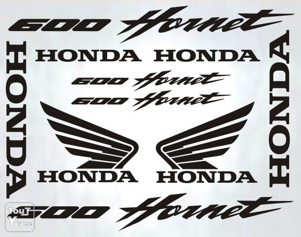 stickers honda 600 hornet autocollants moto adh sifs couy 18140. Black Bedroom Furniture Sets. Home Design Ideas
