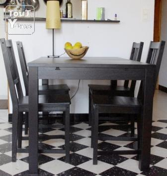 table a manger et 4 chaises ikea montpellier 34000. Black Bedroom Furniture Sets. Home Design Ideas