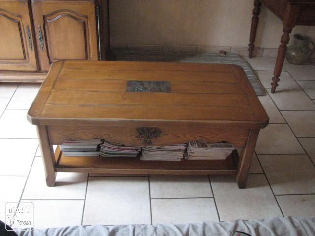 Table basse 100 chene massif magnanville 78200 for Table basse en chene massif