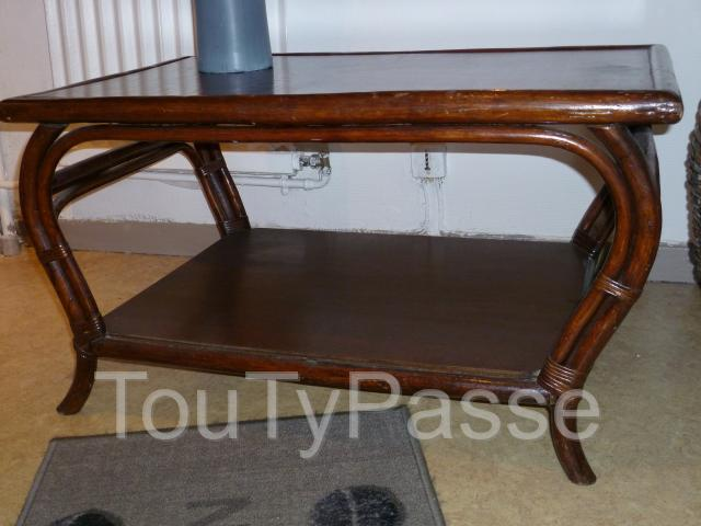 Annonces fauteuil en rotin conforama for Table basse en rotin