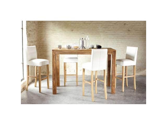 Table bois massif suisse for Table haute bois