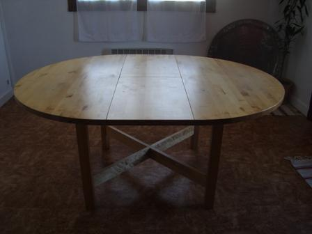 Table ik a l 39 isle jourdain 32600 - Table ronde en bois ikea ...