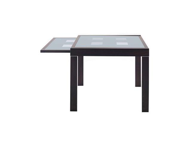 table salle manger weng extensible avec plateau de verre clichy 92110. Black Bedroom Furniture Sets. Home Design Ideas