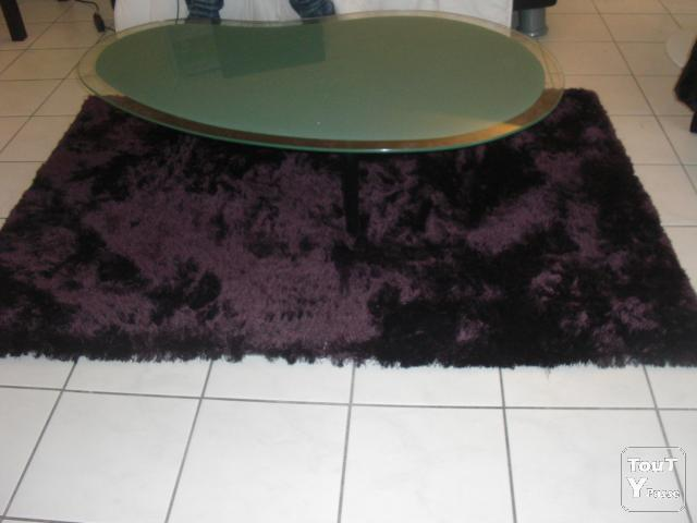 tapis shaggy prune aubergine pour salon haute savoie. Black Bedroom Furniture Sets. Home Design Ideas
