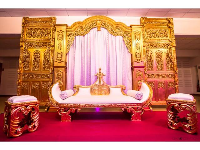 Photo Trone mariage royal image 1/2