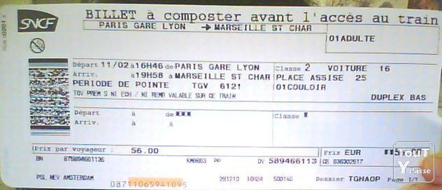 Image Billet De Train billet de train lyon paris - steadlane.club