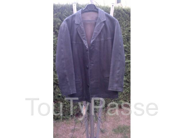 photo de Veste cuir homme t42