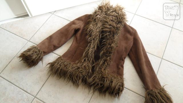 photo de Veste Fausse Fourrure Marron