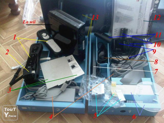 photo de Wii+2manette(1motionplus)+Wii Board+10jeux+télé+...