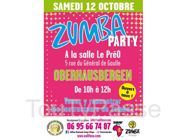 photo de Zumba Party� samedi 12 octobre 2013 à Oberhausbergen  - Association Beoneema Europe-Afrique