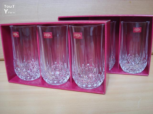 12 verres gobelet 24 cl en cristal d 39 arques longchamp neuf for Fonction meuble chilly mazarin