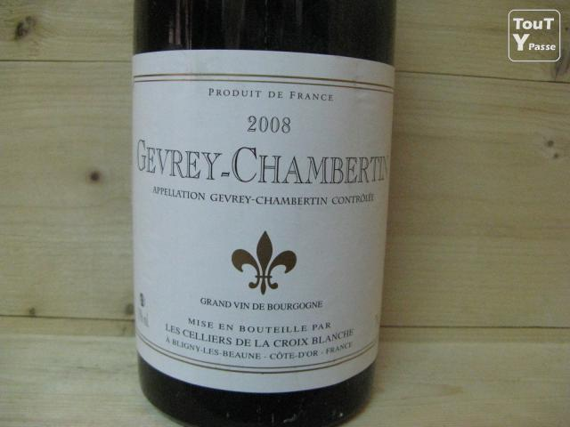 60 bouteilles de gevrey chambertin 2008 celliers de la croix blanche alfortville 94140. Black Bedroom Furniture Sets. Home Design Ideas