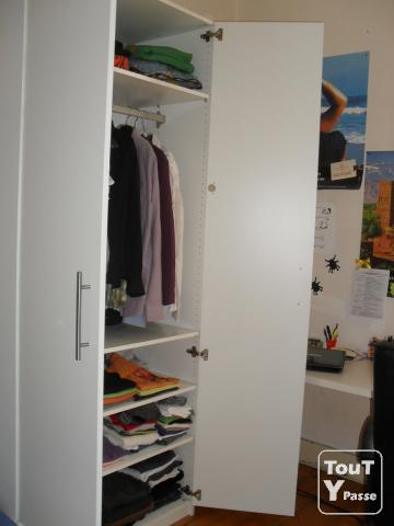 armoire blanche ikea excellent tat presque neuf bordeaux 33000. Black Bedroom Furniture Sets. Home Design Ideas