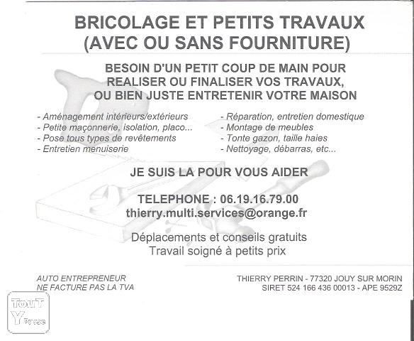 Bricolage travaux am nagement coulommiers 77120 for Coulommiers code postal