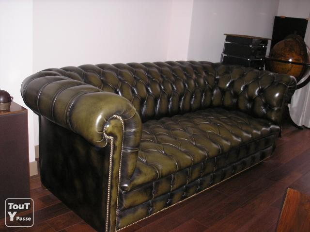 Canape chesterfield - Canape chesterfield occasion ...