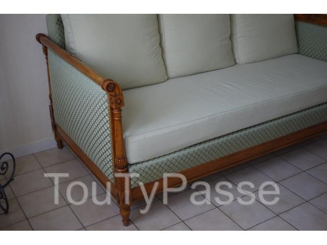 Canap fixe style directoire orl ans 45100 for Canape directoire