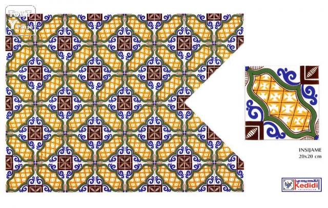Carreaux faience 20x20 de nabeul tunisie for Carreaux faience