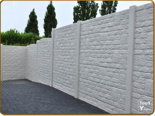 Cloture dalle beton jardin corr ze - Cloture en beton ...
