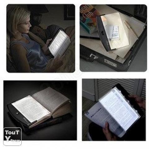 lampe de lecture panneau led pour livre la gaude 06610. Black Bedroom Furniture Sets. Home Design Ideas