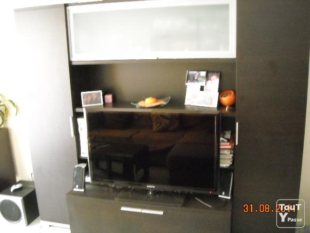 Meuble tele living salon salle a manger wenge provence for Meuble salon living