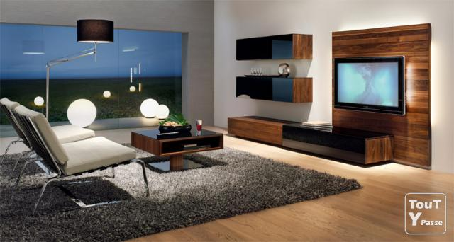 meubles salon en teck massif neuf. Black Bedroom Furniture Sets. Home Design Ideas