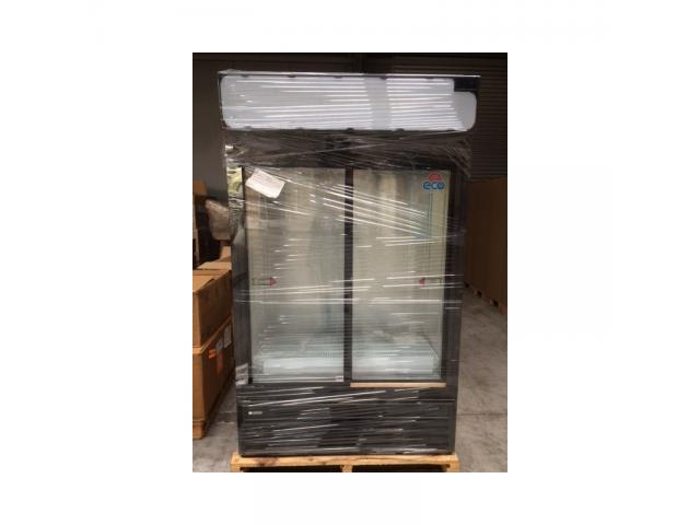 nouveau frigo vitrine double portes battantes 704l li ge. Black Bedroom Furniture Sets. Home Design Ideas
