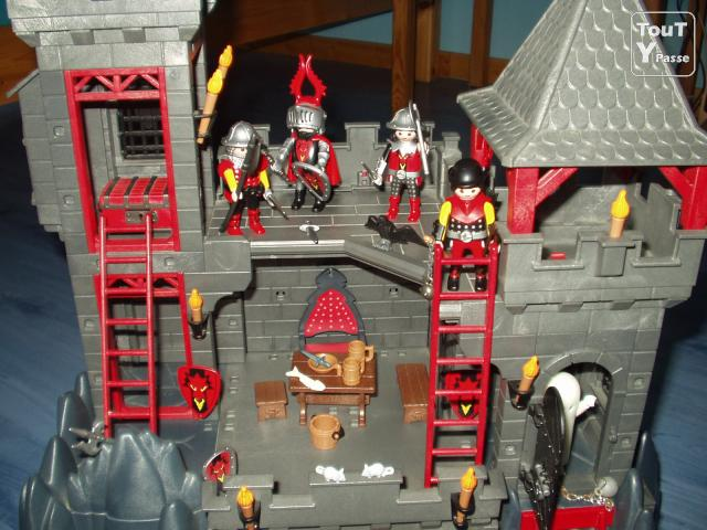 Notice ch teau dragon rouge playmobil for Plan chateau fort playmobil