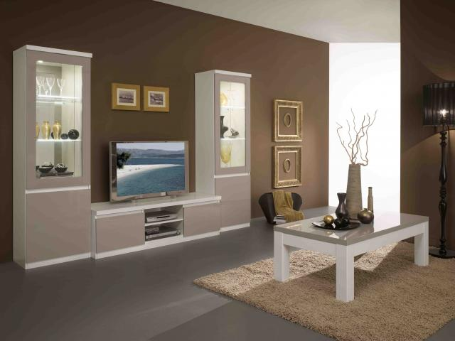 salle manger roma blanc et gris champigny sur marne 94500. Black Bedroom Furniture Sets. Home Design Ideas