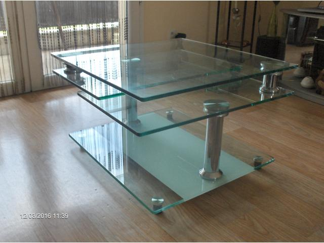 Table basse modulable en verre limoges 87000 - Table basse de salon en verre modulable ...