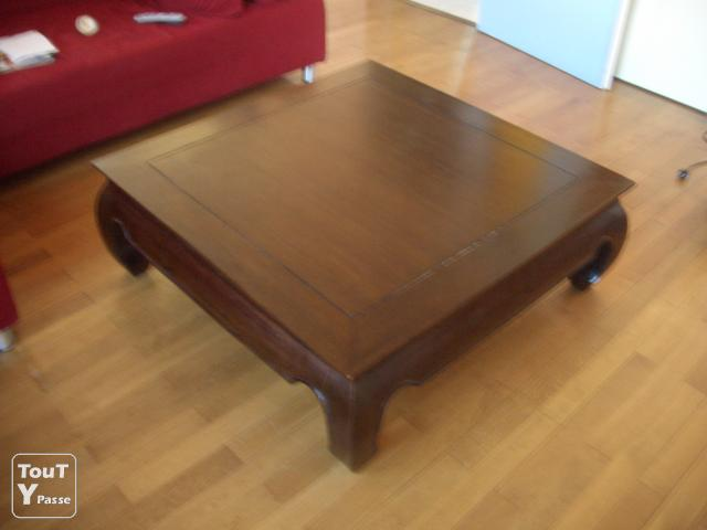 Table basse opium maison du monde 1m 1m barr 67140 - Table de salon maison du monde ...