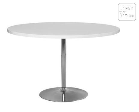 Table Ronde Blanche Laquee Maison Design