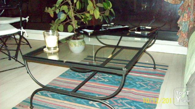 Table ronde verre table basse fer forge paris for Table basse verre fer forge