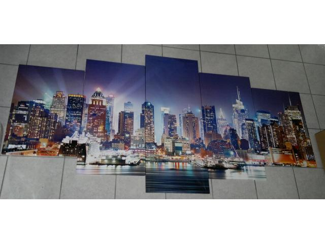 Tableau moderne new york toile 5 parties 200x100cm agen 47000 for Tableau moderne new york