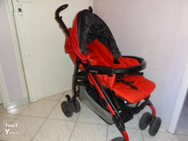 vend poussette peg perego pliko p3 rouge savigny sur orge. Black Bedroom Furniture Sets. Home Design Ideas