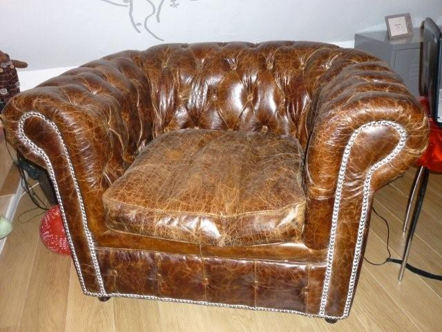 Vends canap fauteuil chesterfield - Salon chesterfield cuir ...