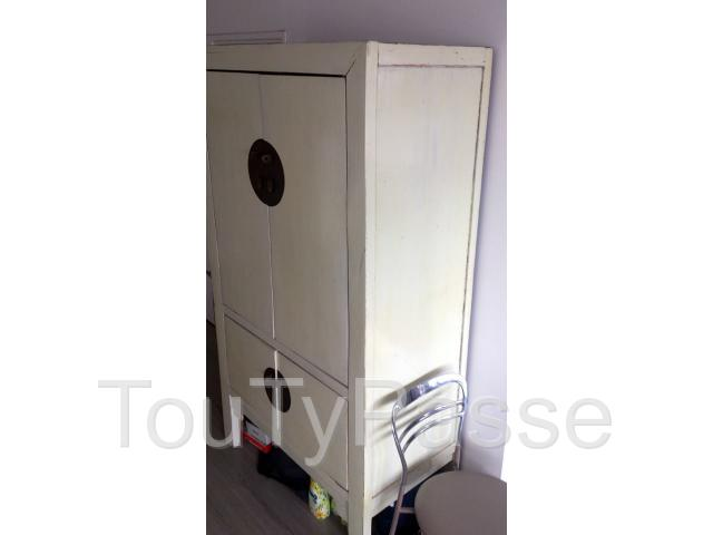 photo amoire de mariage chine laquee blanc image 34 - Armoire De Mariage Chinoise